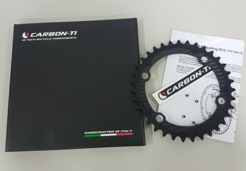Carbon-Ti X-AXS BCD110x4Bolt X-Carboring Inner//Outer Chainring Black 33T-50T