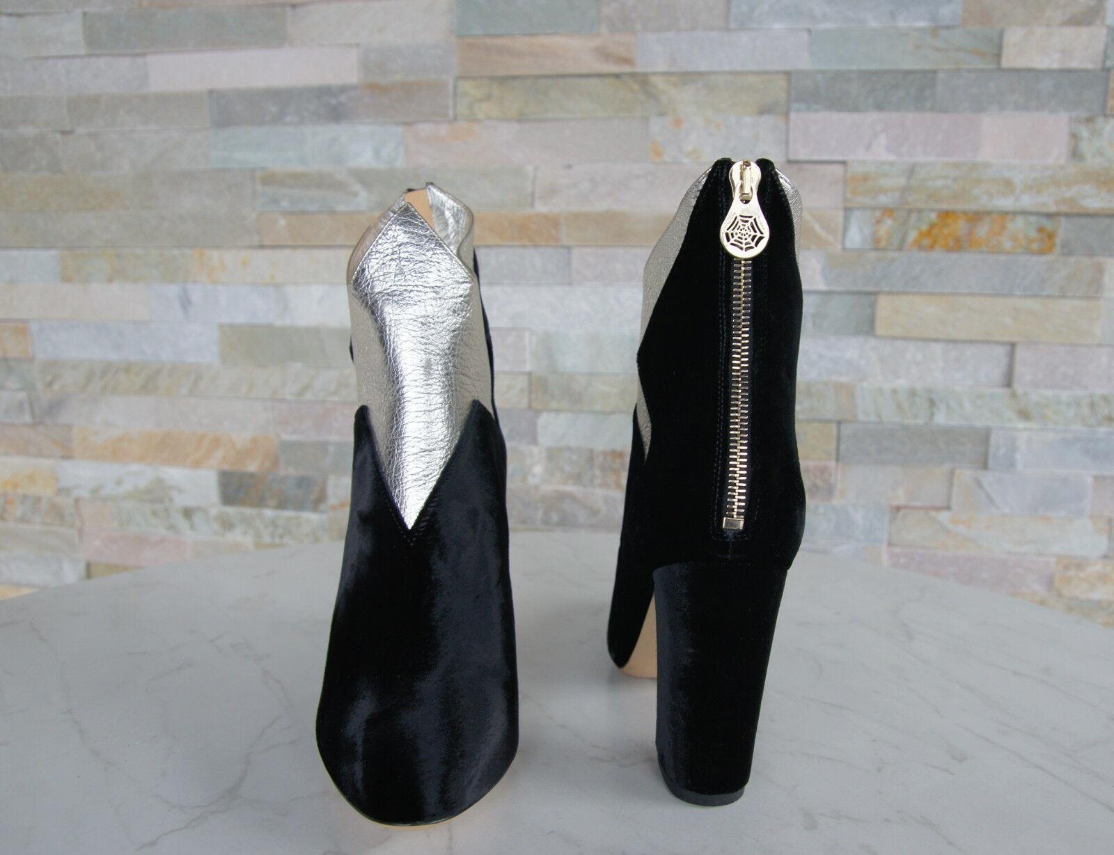 De Luxe Charlotte Olympia 40 40 40 Bottines Bottines Chaussures Velours Neuf Autrefois e45154