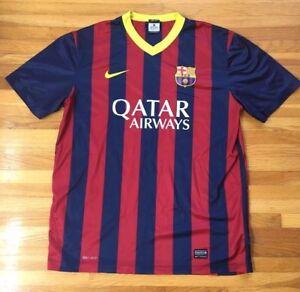 e87318a545d Men s NIKE FC BARCELONA Soccer Football Jersey   Dri-Fit   Large ...