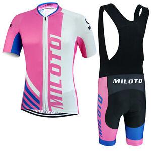 Pink Women s Cycling Jersey and (Bib) Shorts Padded Kit Bike Bicycle ... 383537c57