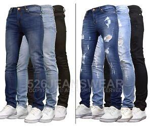 526jeanswear Pantalones Vaqueros De Hombre Diseno Kato Elasticos Cenidos Ebay