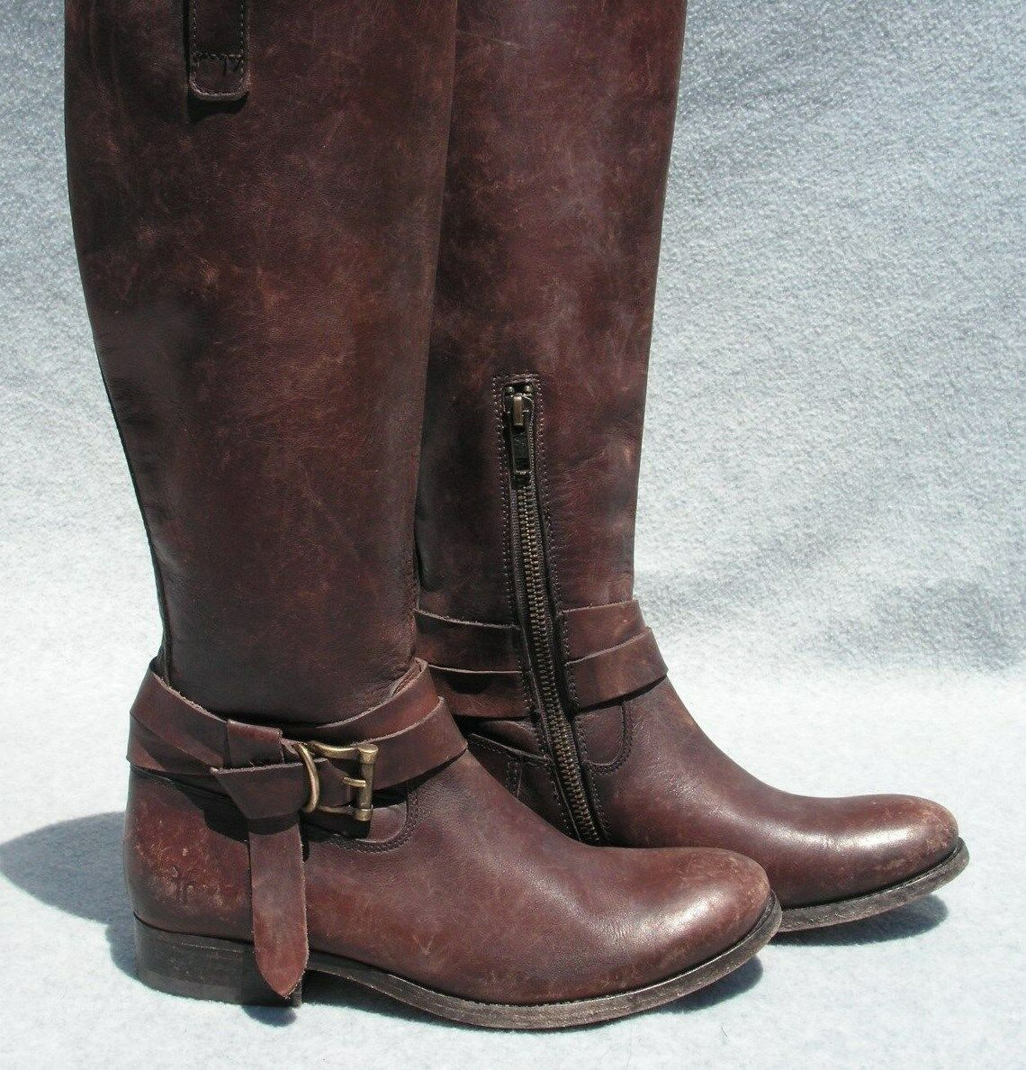 FRYE 'Melissa Knotted' Tall Boot Size 7 Brown  MSRP   398