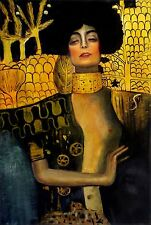 Quality Hand Painted Oil Painting, Gustav Klimt Judith I Repro,  24x36in