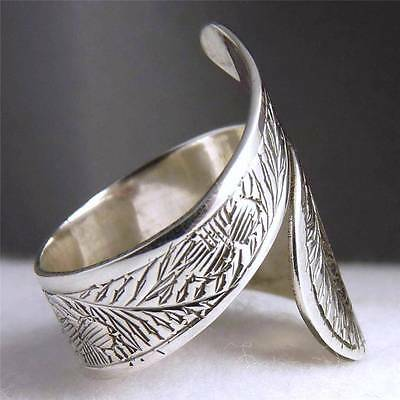 WRAP CARVING SilverSari RING #3A Size US 5-12 (Adj.) 925 Solid Sterling Silver