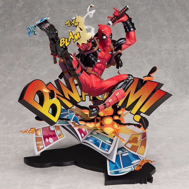 Marvel Superhero Deadpool Breaking The Fourth Wall PVC Figure New In Box