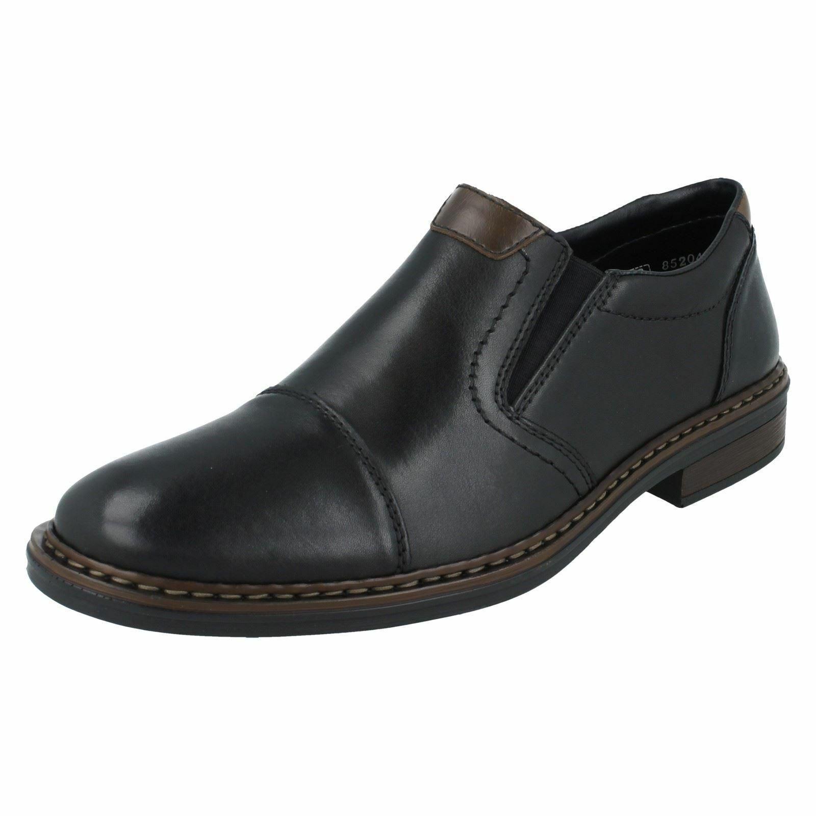 Herren Rieker Extra Breit Slip On Schuhe 17659