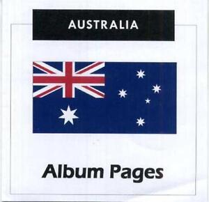 Australia - CD-Rom Stamp Album 1913-2019 Album Pages Classic Stamps Illustrated