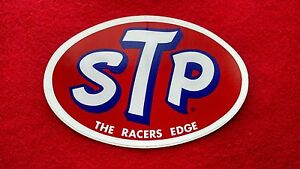 "Vintage STP Automotive Racing Decal Sticker /"" The Racers Edge/"" New and Unpeeled"
