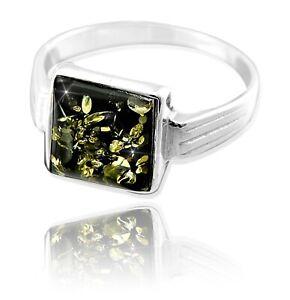 Ring Bernstein Amber Silber 925 verschiedene Größen