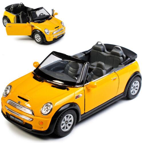 Mini Cooper S Cabrio Gelb ca 1//43 1//36-1//46 Modellcarsonline Modell Auto mit o..