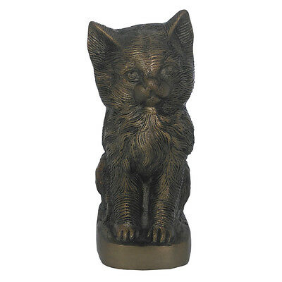 Antique Brass Finish Aluminium Pet Sculpture Urn for Cat Ashes