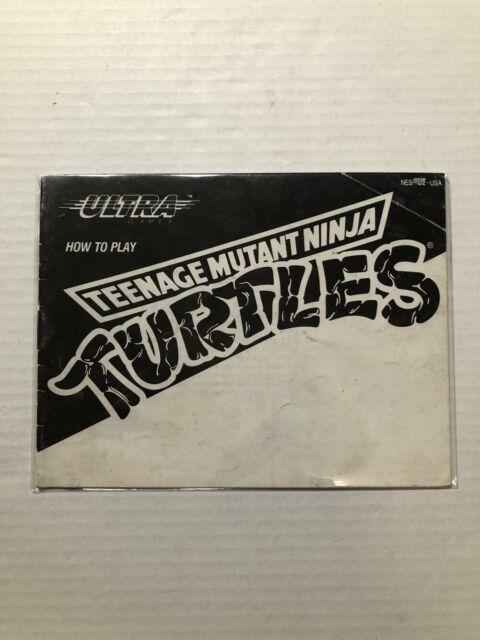 Teenage Mutant Ninja Turtles Instruction Manual Only (Nintendo)NES🇨🇦