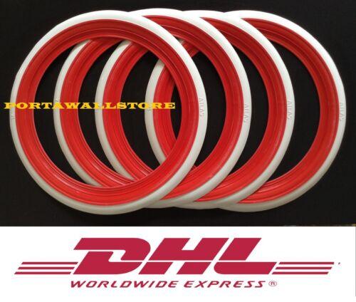 USA CLASSIC STYLE ATLAS 12/'/' RED/&WHITE WALL PORTAWALL TIRE INSERT TRIM SET   #3