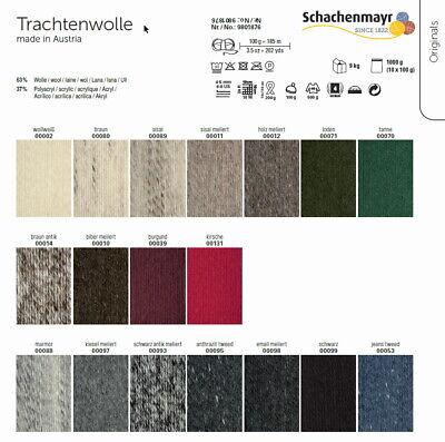 00098 185 m Wolle - 100 g // ca TRACHTENWOLLE von Schachenmayr EMAIL MELIERT