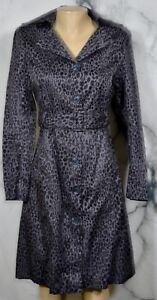 KIRNA-ZABETE-AT-TARGET-Gray-Black-Animal-Print-Coat-Dress-XS-Matching-Belt