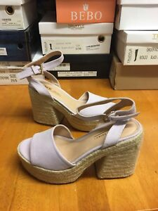 15e6d27c99 Image is loading Asos-Espadrille-Block-Heel-Shoes-Lilac-Size-3-