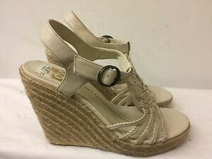 e021697b684 DV by Dolce Vita Women beige Wedge rope Sandals Size 8.5 M