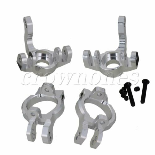 2pcs AX31002 AX31001 C-Hub Carrier/&Steering Hub Carrier for RC1:10Crawler Silver