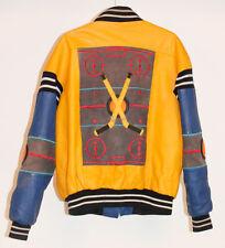 VINTAGE 90s MICHAEL HOBAN Hockey Where M I Leather Bomber Biker Jacket Coat L