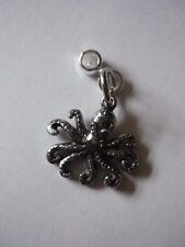 Octopus English Pewter W13 Charm with 5mm Hole fit Pendant Charm Bracelet