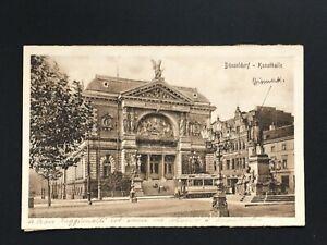 Postcard-Antique-1922-Germany-Dusseldorf-Kunsthalle