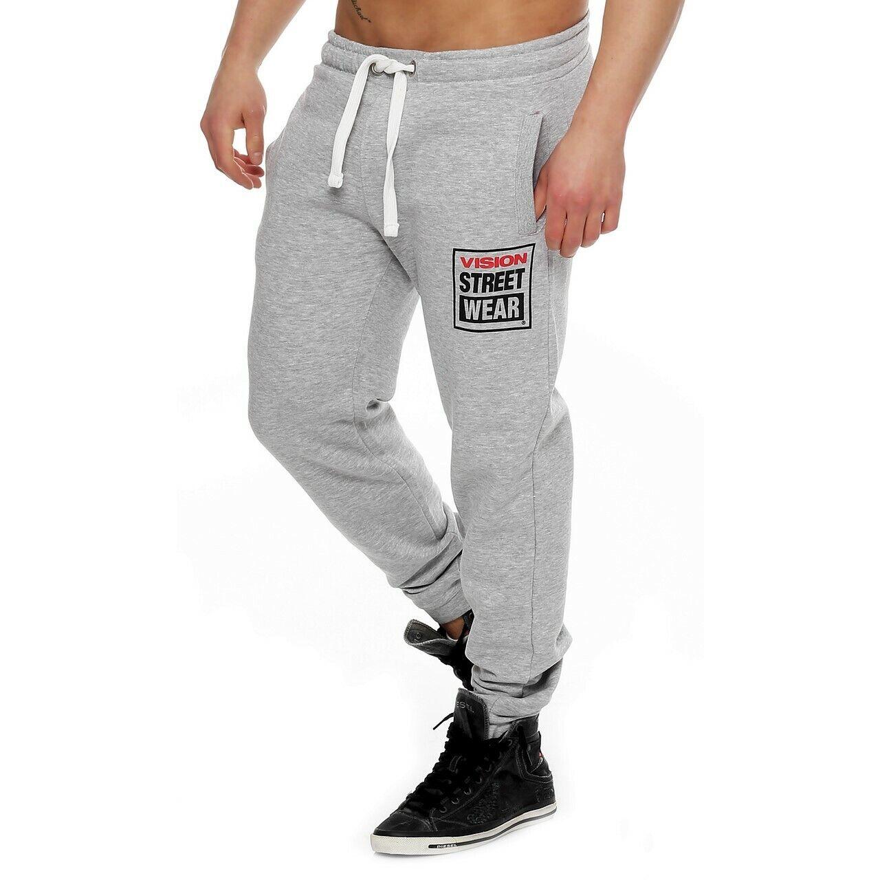 Vista en la calle, pantalones de correr, nuevo Color gris.