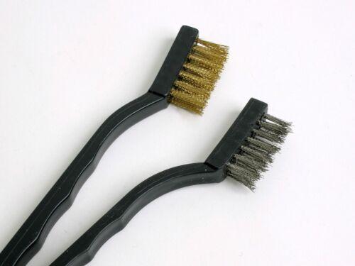 "Amtech F3400 6 pc fil Hand Brush Set Nylon Laiton Acier Brosses Rouille Removal 7/"""