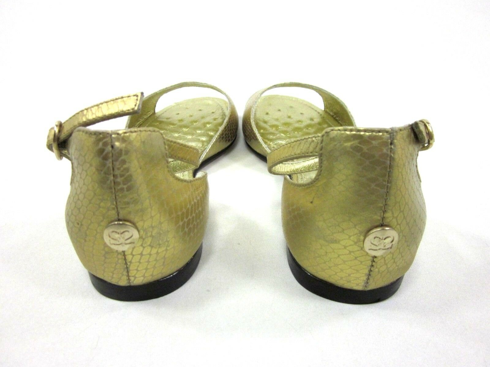 SHANE & SHAWN WOMEN'S PICKENS ANKLE-STRAP SANDAL, gold gold gold US 7, MEDIUM, NEW W O BOX a51d6d