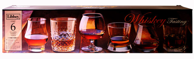 Libbey Whiskey Tasting Set of 6 Glasses