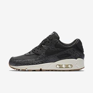 Details about New Nike Women's Air Max 90 Premium Shoes (443817 010) BlackSailGum Med Brown