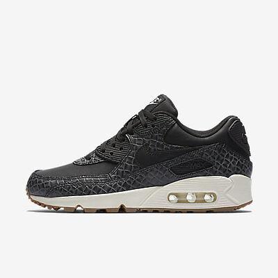 New Nike Women's Air Max 90 Premium Shoes (443817 010) BlackSailGum Med Brown   eBay