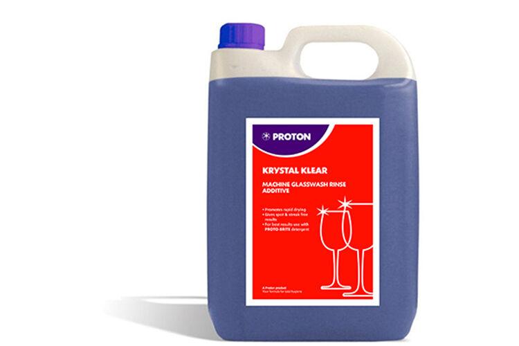 4 x 5L prougeon krystal klear glass wash rinse aid additif