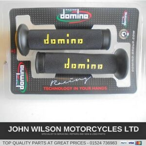 Domino RR Diamond Handle Bar Grips Suzuki GSXR600   Black /& Grey