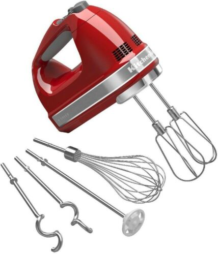 9-Speed Electric Kitchen Handheld Mixer Turbo Beate II Accessories Empire Red