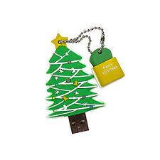 Christmas Tree USB Flash Drive Memory Stick Pen    + Christmas Hits Compilation