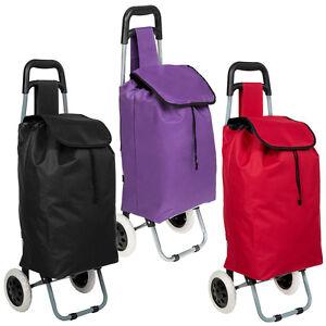 folding wheeled lightweight shopping trolley grocery bag cart on wheels ebay. Black Bedroom Furniture Sets. Home Design Ideas