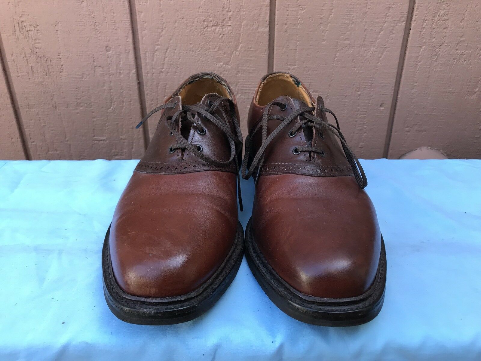 Allen Edmonds Shelton  Uomo US 11.5C Saddle A6 Oxfords Braun Leder Schuhes A6 Saddle d4600b