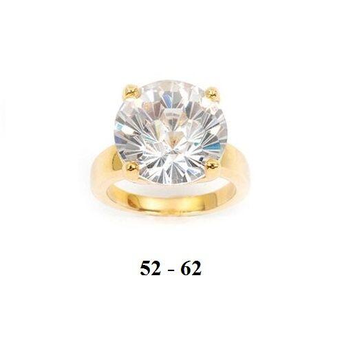 Dolly-Bijoux Grosse Bague T60 Diamant Cz Cz Cz 15mm Plaqué Or 18K 5 Microns 532b3f