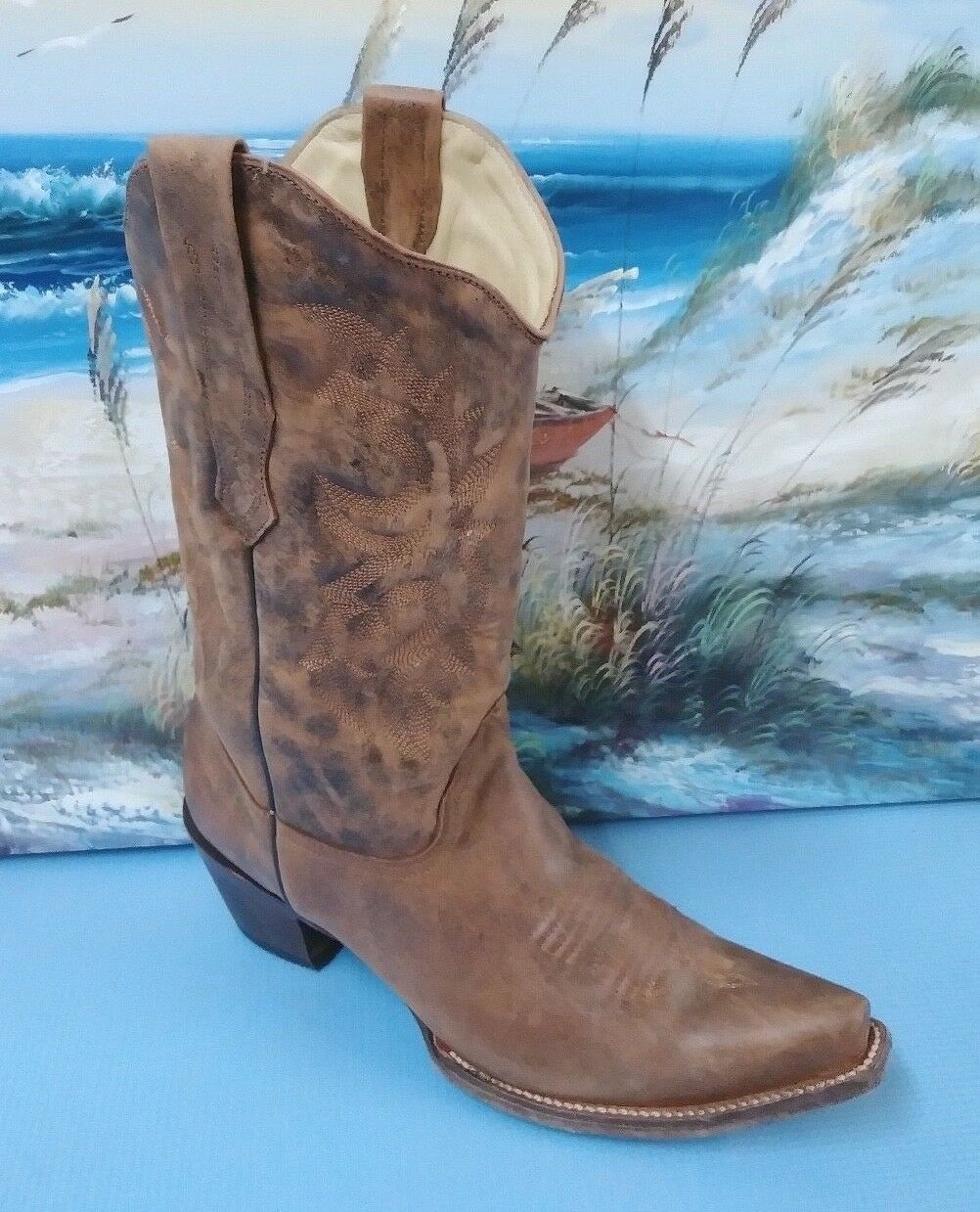 Corral Boots Distressed C2033 Cowgirl Boots, Brown, Size 9.5 M