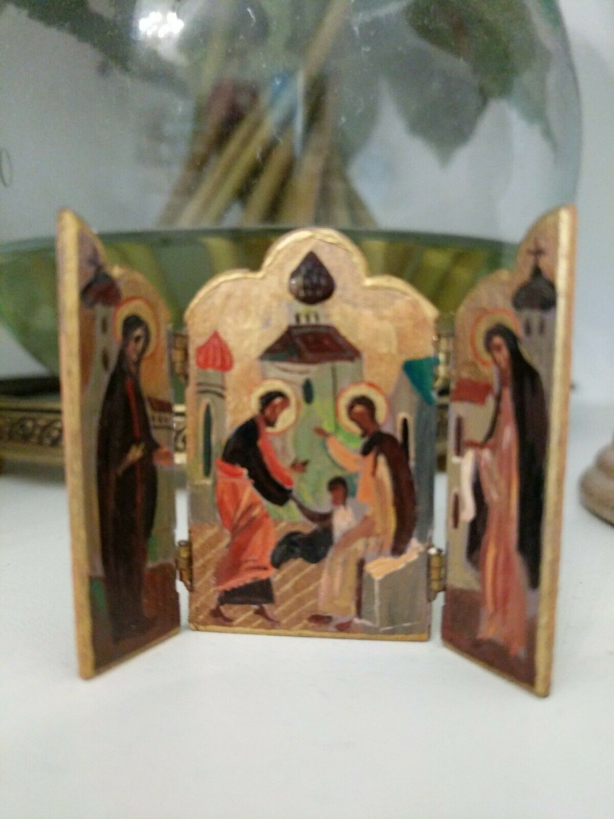 1983 Natasha Beshenkovsky Miniature Dollhouse FIRE SCREEN icon orthodox