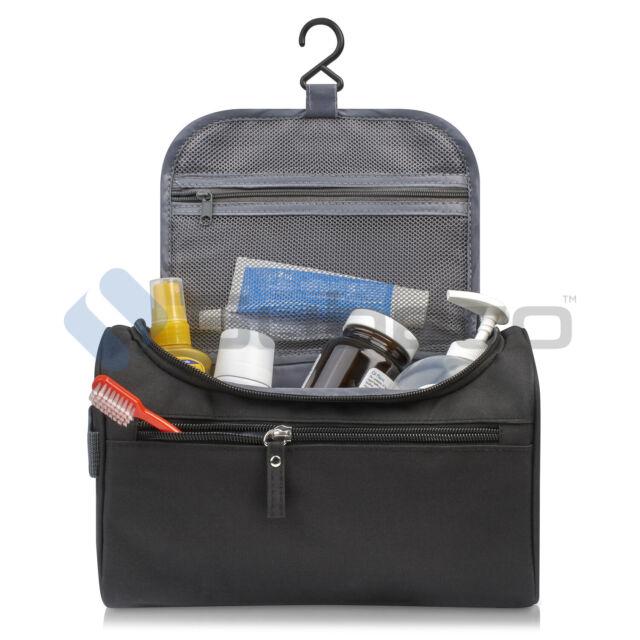 e6b19d9b0cdd Mens Toiletries Wash Bag Travel Hanging Toiletry Organizer Shaving Cosmetic  Case