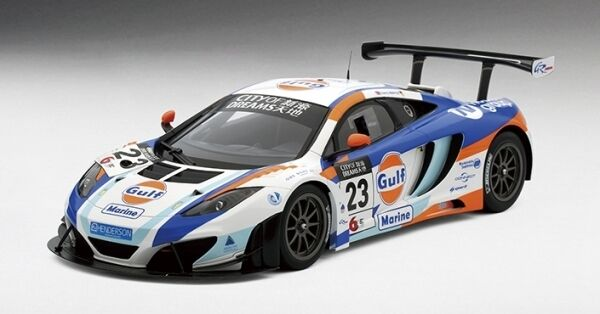 McLaren 12c Gt3 Gulf United Autosport 2nd Place Macau Gp 2013 1 18 Model