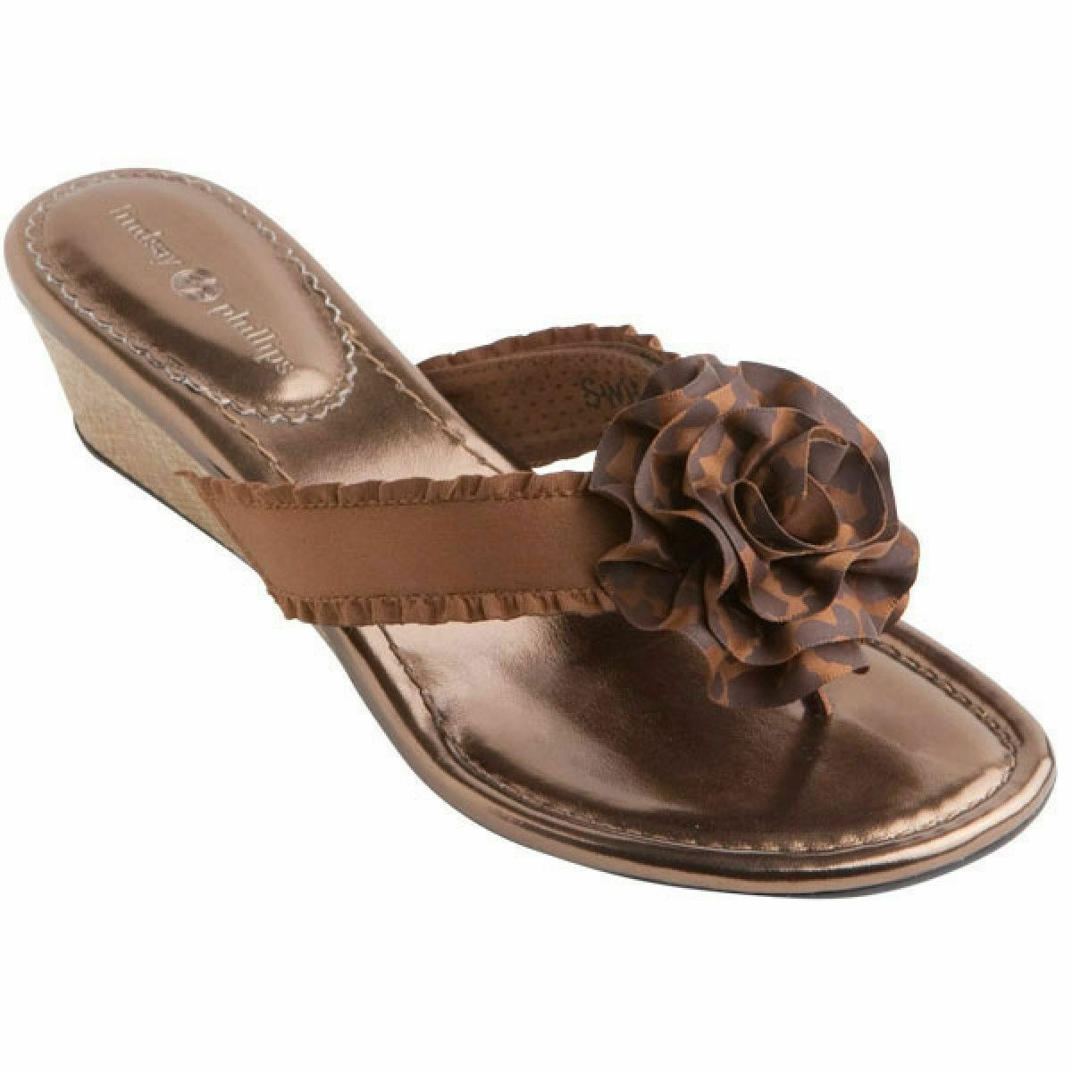NEW Lindsay Phillips Missy Bronze size 7 switchflop sandal very pretty