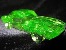 Green Vaseline glass 1963 split window Corvette chevrolet uranium yellow car art