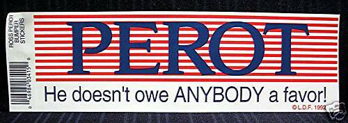 Lot of 12 Different Ross Perot President Sticker Sign