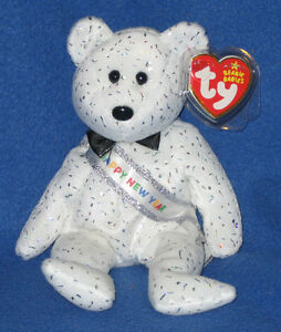7f8072be3ce Image is loading TY-NEW-YEAR-2007-BEAR-BEANIE-BABY-MINT-