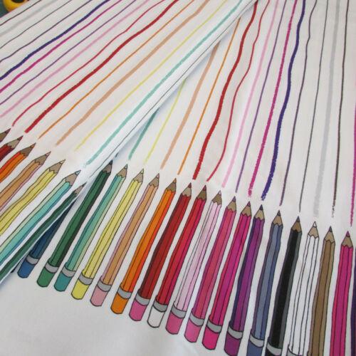 Club de lápiz imprimir por windhamd 100/% Tela De Algodón-color de arco iris de impresión frontera