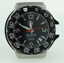 TAG HEUER MID-SIZE WAC1210 FORMULA ONE BLACK DIAL PARTS OR REPAIRS  AS-IS