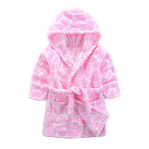 Kids Soft Hooded Bathrobe Toddler Robe Children/'s Pajamas Boys Girls Sleepwear