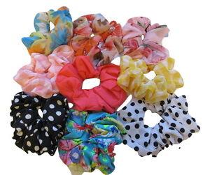 Hair-Scrunchies-Scrunchie-Elastic-Scrunchy-Sports-Gymnastics-School-Girls-Ladies